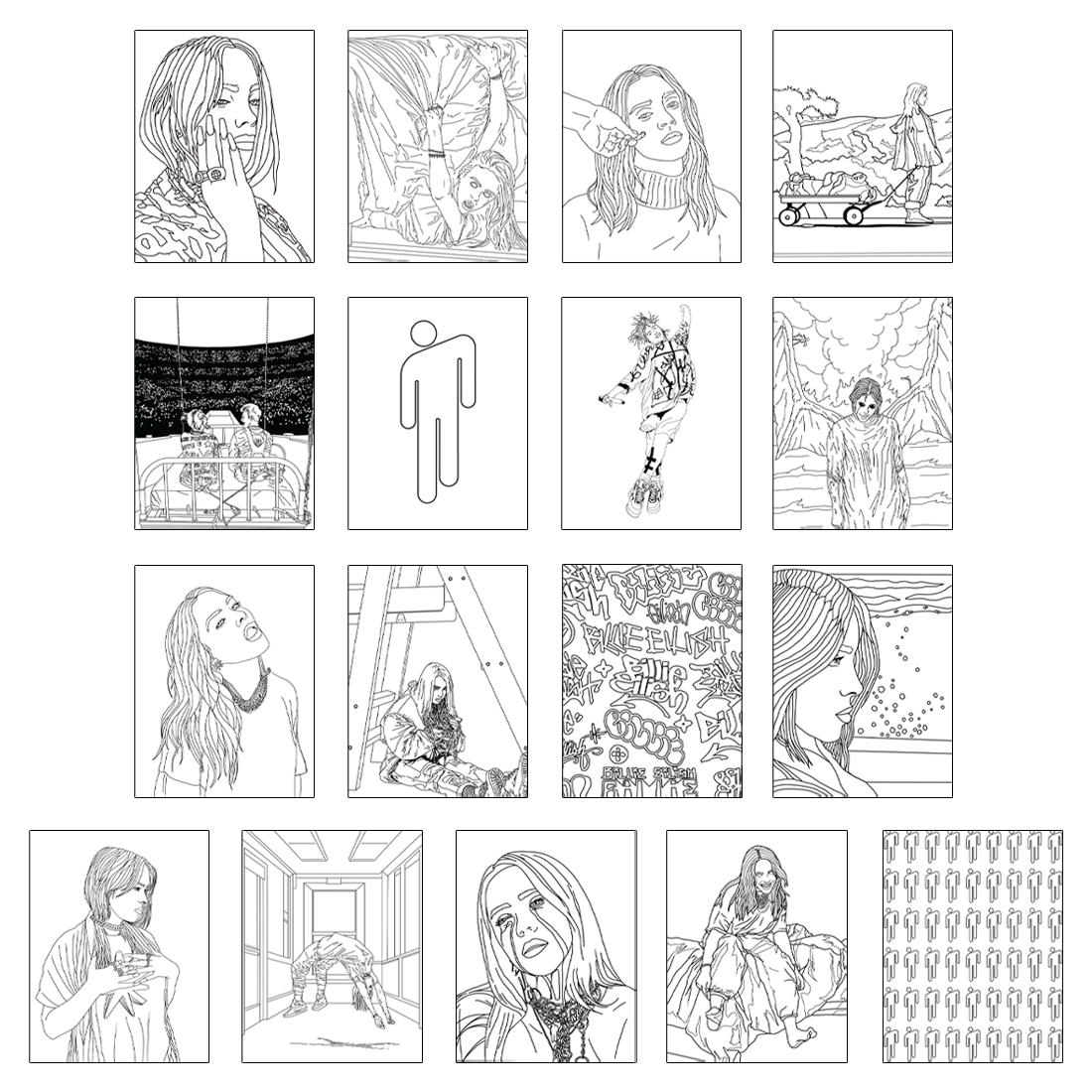 Billie Eilish Releases 'Pick Your Donation' Coloring Book ...